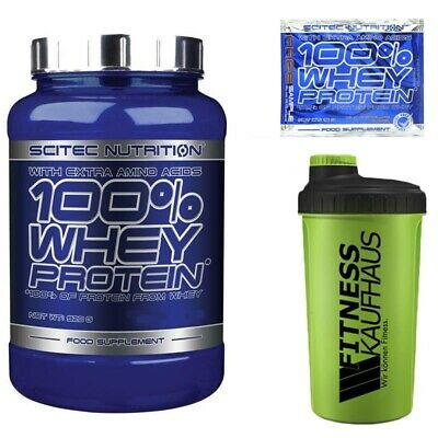 Scitec Nutrition 100% Whey Protein 920g Eiweiss + Shaker + Probe