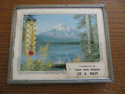 OLD TRUCKING CO.COLLECTIBLE ADVERTISING THERMOMETER,YOUR MILK HAULER,LEE D.WOLFF