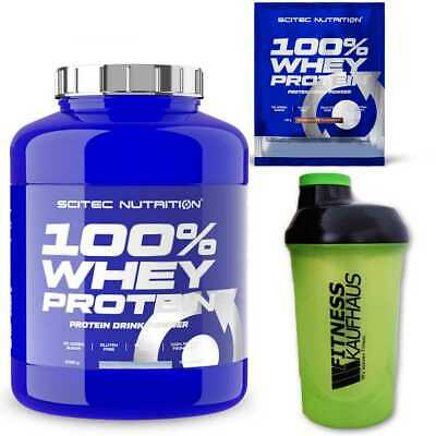 (16,98 EUR/kg) Scitec Nutrition 100% Whey Protein 2350g Eiweiss + Shaker + Probe