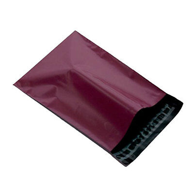 """250 Burgundy 17"""" x 22"""" Mailing Postage Postal Mail Bags"""