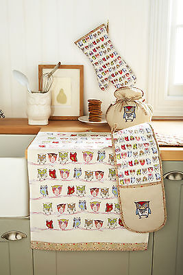 Ulster Weavers TWITTER Owl Oven Glove or Apron or Tea Towel
