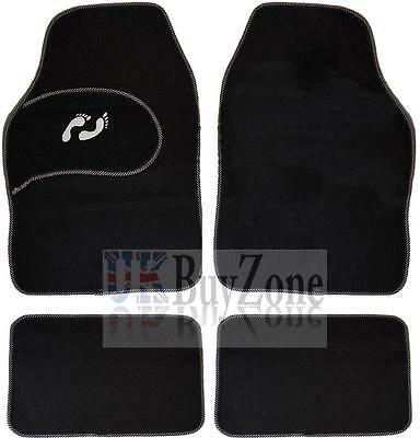 4 Piece Front Rear Black Car Mat Carpet Set Non-Slip Grip Universal Floor Mats