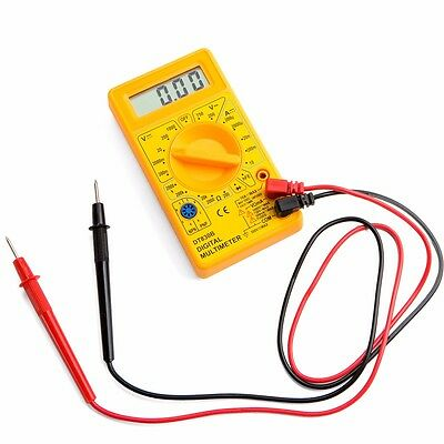 Electrical LCD Digital Multimeter Voltmet Electric Voltage Tester BATTERY LEADS