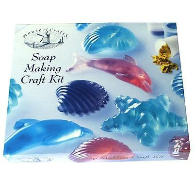Scented Soap Making Kit House Of Crafts Sea Theme Shell Moulds Dye Fragrance 260