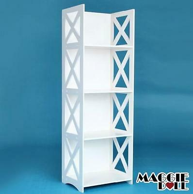 New White Hollow Carved Kitchen Bathroom Storage shoes Rack book shelves Large