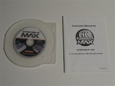 85398 AR Action Replay Max Game Boy Advance GBA SP & DS PC Data Disc + Manual