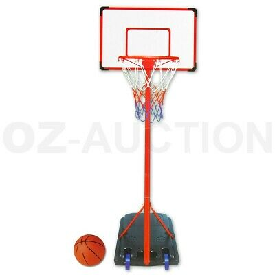 King Sport Portable Height Adjustable Goal Ring Basketball Hoop Stand Set