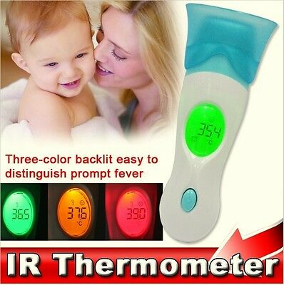 4 in 1 Ear Thermometer IR Infra-Red Digital LCD In-Ear Temperature +Stand T2
