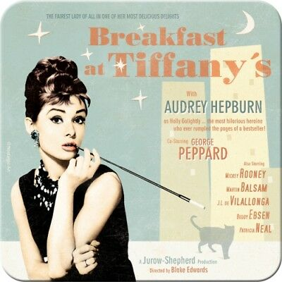 METALL UNTERSETZER 46135 - BREAKFAST AT TIFFANY´S (BLUE) - 9x9 cm - NEU