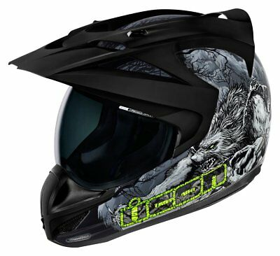 Icon Variant Thriller Glow In The Dark Dual Sport Helmet