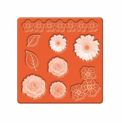 Mod Podge Silicone Mold Embellishments Flower Border Rose Daisies Leaves 24889