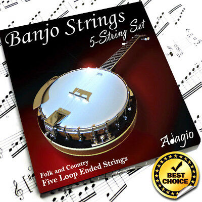 Adagio 5 String BANJO STRINGS For Professionals - Full String Set In Gloss Box