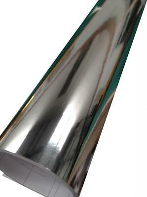 Mirror Chrome Vinyl Car Wrap Silver (Air/Bubble Free) 750mm x 500mm