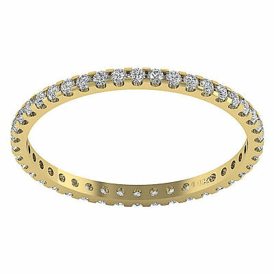 Eternity Wedding Stackable Ring Band I1/G 0.55Ct Real Diamond Jewelry 14Kt Gold