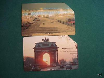 Russia - Rusia - 2 Old Urmet Cards-With Moscow Train Station  Picture  - A023