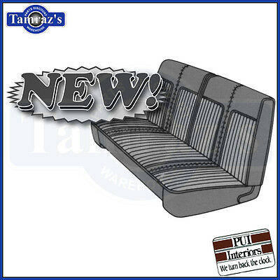 1968 Dart 270 Front Bench Upholstery Covers Hardtop Black PUI