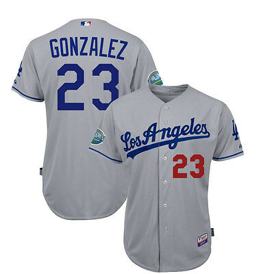 2012 Adrian Gonzalez Los Angeles Dodgers Authentic Cool Base 50th Road Jersey