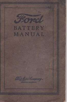#MISC-1108 -  1920s FORD CAR BATTERY MANUAL