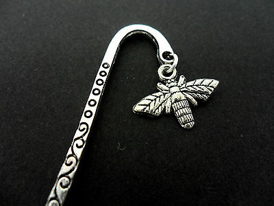 A Tibetan Silver  And Bee Charm Bookmark. New.