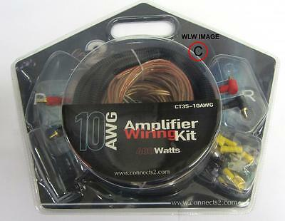 Connects2 400Watt Complete 10Gauge Car Amplifier Amp Sub Wiring Kit high quality