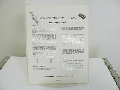 Cornell-Dubilier AR-33 Autorotor Owner's Manual