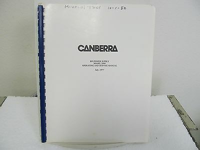 Canberra 2000 Bin Power Supply Operating/Service Manual w/schematics