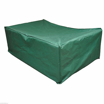 "96.5""L x 65.7""W x 26.4""H Outdoor Furniture Cover Oxford Dark Green UV-treated"