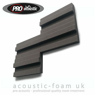 "24x BLOCK45 Pro Acoustic Foam Tiles 12"" 305mm Studio Sound RoomTreatment"