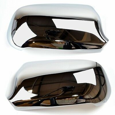 Chrome Set Wing Door Mirror Covers For Audi A6 1998 - 2004 Pair