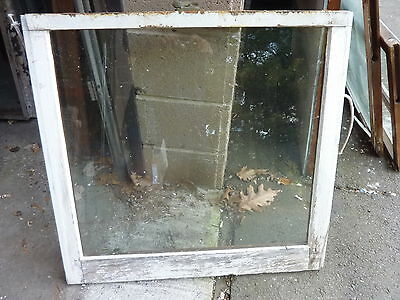 """c1900 ANTIQUE single pane window SALVAGed from local victorian home 30 x 28.5"""""""