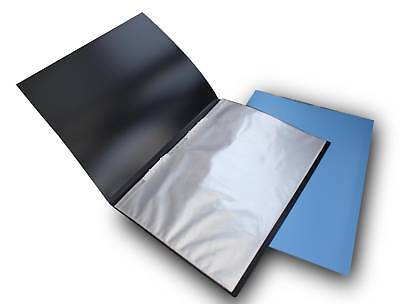 A3 BLACK DISPLAY PRESENTATION BOOK WITH 20 FIXED POCKETS & STIFF COVER Protecta