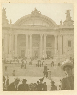 France, Paris, Grand Palais  Vintage silver print. Exposition Universelle de Par