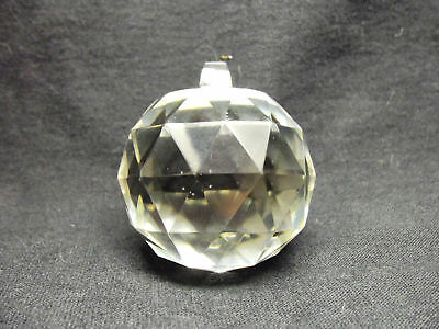 VINTAGE LARGE ROUND GLASS CRYSTAL BALL CENTER PRISM Lamp Chandelier Fan Pull