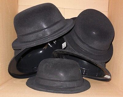 New Lot of 6 Theatrical PINK Straw Cowboy Hats Elastaband for great fit