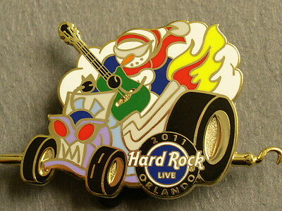 ORLANDO LIVE,Hard Rock Cafe Pin,Winter Parade Snowman 2011