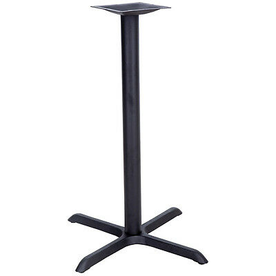 22'' x 30'' Metal Restaurant Table X-Base with 3'' Diameter Bar Height Column