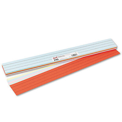 Pacon Sentence Strips, 24 x 3, Assorted Colors, 100/Pack, PK - PAC5165