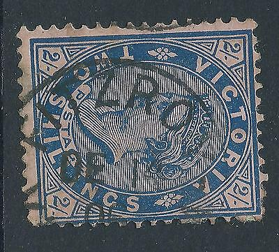 c. 1901 -  1910 VIC Victoria Australia QV 2/- Blue on Pink Postage   FITZROY CDS