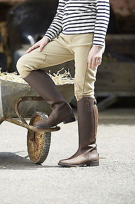 Toggi tucson childrens long riding boots, oily nubuck leather childs
