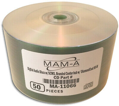 100-Pak =DIGITAL-AUDIO= CDR-DA 80-Min CD-Rs by MAM-A (Mitsui)!  Mitsui 11066