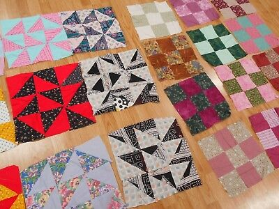 21 Vintage Antique 2 SETS of Quilt Blocks to make 2 lap quilts or 1 queen Quilt