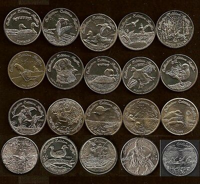 All 20 Ducks Unlimited Collector Coins