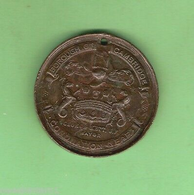 #d134.  Borough Of Cambridge 1902  Coronation  Medal