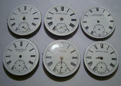 Kendal & Dent Lot of (6) Gents Pocket Watch Movements for Spares / Repair