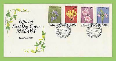 Malawi 1983 Christmas Flowers set First Day Cover