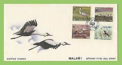 Malawi 1987 Wattled Crane WWF set on First Day Cover