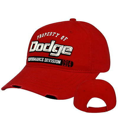 HAT - DODGE Performance Div 1914 Distressed Applique Ball Cap FREE SHIPPING