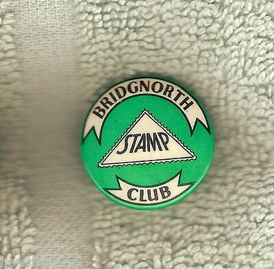 #d123.  Bridgnorth  Stamp Club  Tin Badge