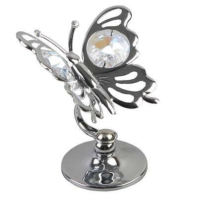 Crystocraft Silverplated Butterfly Gift Ornament With Crystal SP202