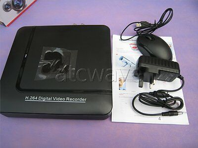 4CH Channel H.264 Network Mini CCTV DVR AHD Security Video Audio Recorder Home